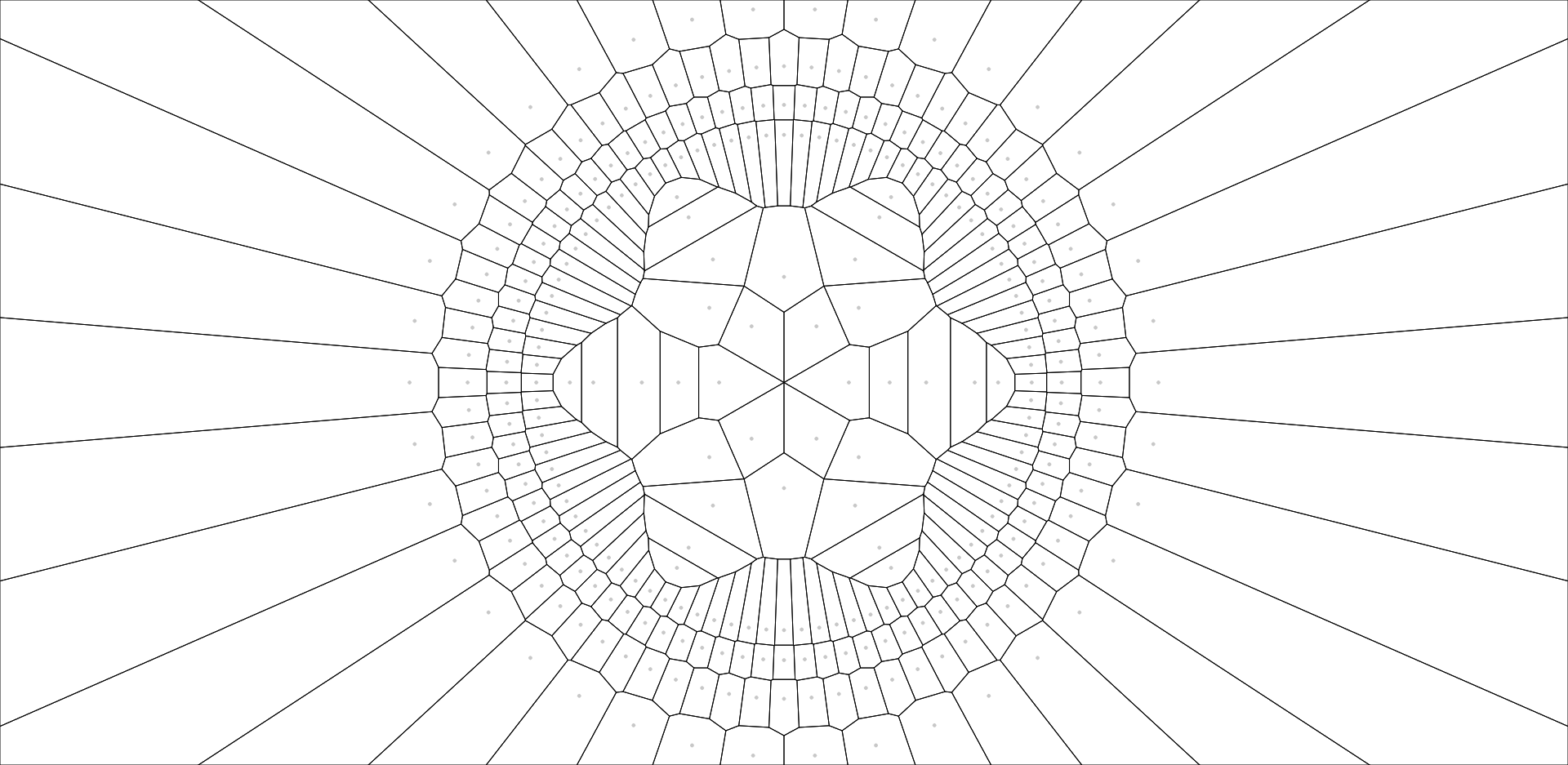 Radial Voronoi Diagram Experiments In Javascript  U2014 Jason Webb